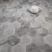 CIR Miami Esagona Dust Gray (Ex Polvere) Tile Set