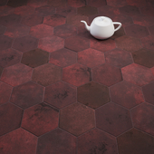 CIR Miami Esagona Red Clay (Ex Vinaccia) Tile Set