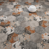 CIR Miami Esagona Florida Gray Tile Set