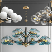 Chandelier Thalia chandelier Blue glass 15