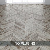 Old Painted Wood Parquet Floor vol.003 in 2 types