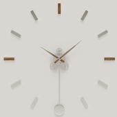 Wall clock with pendulum Illum Pendulum