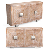 Baylor Washed Four Door Media Credenza