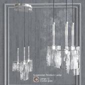 Pendant lamp AXO Light Spillray SP3 Clear Glass pendant lamp