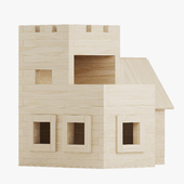 Wooden constructor. Fort