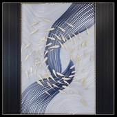 Waves - Metal wall panel 20