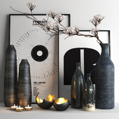 set527 -black vases