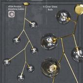 Подвесной светильник Nuevo Bulb chandelier Atom 3 Pendant Clear Glass