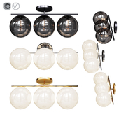 West Elm Sphere and Stem 3 Light Sconce