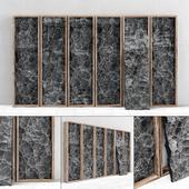 Каменные скальные слэбы в раме / Slab stone rock frame