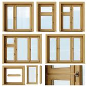 Set of wooden windows 1 + Designer