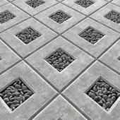 Area slabs smooth pebble