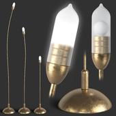 ZAVA MINI Brass Floor Lamp