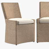 MARISOL SEAGRASS WOVEN BASE TRACK SIDE CHAIR