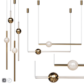 Pendant lamp Lee Broom ORION GLOBE LIGHT POLISHED GOLD