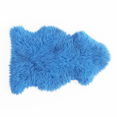Soft Plush Faux Sheepskin Rug Blue