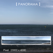 Set of panoramas of the sea