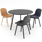 Neu 13 chair + Loop Stand Round by HAY