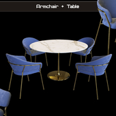 Armchair Jazz Table Tulip