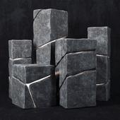Stone cube lights