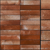 Yurtbay Seramik Brick Stone Cotto Mix Set 1
