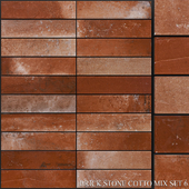 Yurtbay Seramik Brick Stone Cotto Mix Set 6