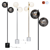 West Elm Sphere and Stem collection Floor Lamp Chrome, Gold, Bronze