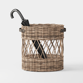 Oval Rattan Umbrella Basket