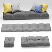 Seat pillow set