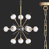 White Glass Globes Sputnik Chandelier