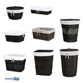 Корзины для ванной комнаты_темно-коричневые_ОМ
