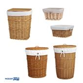 Корзины для ванной комнаты_светло-коричневые_ОМ