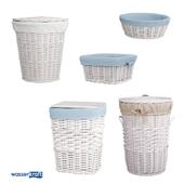 Корзины для ванной комнаты_белые_ОМ