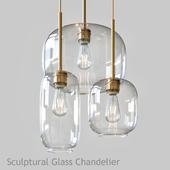 Sculptural Glass Chandelier