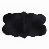 Forsyth Sheepskin Rug Black