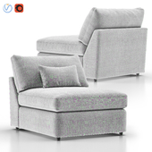 Lounge II Petite Outdoor Upholstered Armless Chair