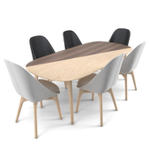 Solo dining set by NERI & HU