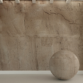 Бетонная стена. Старая штукатурка. 44