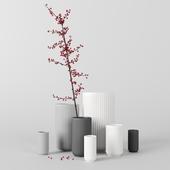 Decor set with Lyngby vases