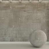 Бетонная стена. Старый бетон. 96