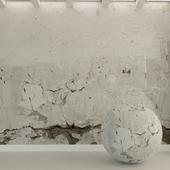 Бетонная стена. Старый бетон. 97