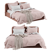 Bolzan letti Joy Box Bed and Adairs Bamboo Violet Quilt Cover
