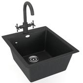 Sink Ulgran with mixer Orange Mia