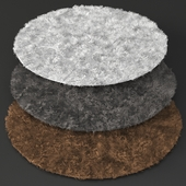 Ковры 02 Пушистый круглый ковёр
