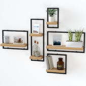 Shelves with filling