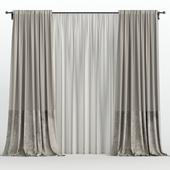 Velvet curtains from tulle.