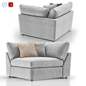 Lounge II Petite Outdoor Upholstered Corner Chair