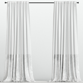 White velvet curtains from tulle