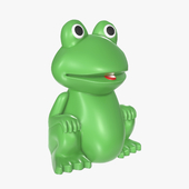 Green frog toy
