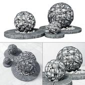 Street gabion sphere decor / Street decor with gabions
